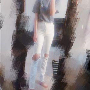 Brand new A&F white jean